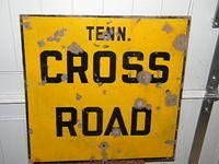 $OLD Tennessee Cross Road Porcelain Highway road Sign