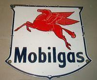 $OLD Mobilgas pump sign