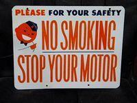 $OLD Union 76 w/ Minuteman Graphics Porcelain No Smoking Sign
