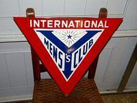 YMCA Y Mens International Porcelain Sign Diecut $OLD