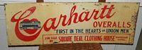 Carhartt Overalls NOS Tin Sign $OLD