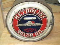 $OLD Metroline Easy Pour Rocker can w/ Flying Car Graphics