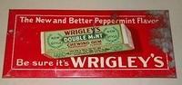 $OLD Wrigley's Gun Early tin Cardboard back Sign