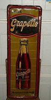 $OLD Grapette Early Tin Sign