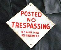 $OLD No Tresspassing NC Sign Rockingham