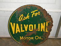 $OLD Valvoline DST Tin Sign