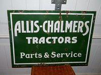 $OLD Allis Chalmers DSP Porcelain Sign