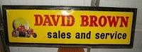 SOLD:  David Brown Porcelain Sign with Crawler Tractor