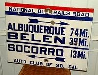 SOLD:  National Old Trails Porcelain Sign