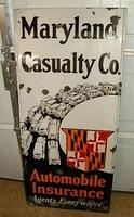 SOLD: Maryland Casualty Lighthouse Porcelain Sign