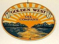 SOLD: Golden West Gas Pump Plate Sign