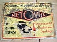 $OLD Netovite French Automotive Sign w/ Graphics