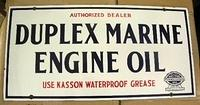 $OLD Duplex Marine Porcelain Sign