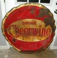 Cheerwine Bottlecap Sign