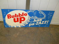 $OLD Bubble Up Tin Sign