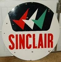 SOLD: Sinclair Triple Check 48 Inch Porcelain Sign