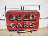 $OLD Dodge Used Cars DST Neon Sign
