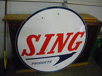 $OLD SING DSP Porcelain Gas Station Sign