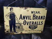 $OLD NC Anvil Brand OVeralls SST Sign