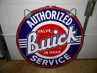 Buick 42 Inch Double Sided Porcelain Sign w/ Ring $OLD