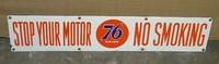 $OLD Union 76 No Smoking DSP Porcelain Sign