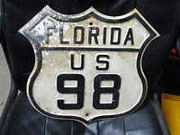 $OLD Florida 98 Fully Embossed Route Shield Sign