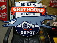 $OLD Greyhound Diecut SSP Sign VC Sign Co 2003