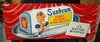 $OLD 1959 Sunbeam Sign w/ Platter Emb Tin