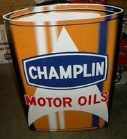$OLD Champlin SST Tin Oil Can Sign
