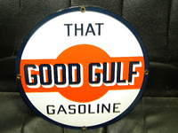 $OLD That Good Gulf PPP Porcelain Sign