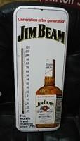 $OLD Jim Beam Tin Thermometer