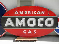 $OLD Large DSP Porcelain Amoco Sign