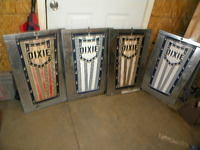 $OLD Dixie Gas Pump Plates on Chrome Bennet Pump Doors