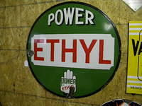 $OLD Power Ethyl 30 Inch SSP Porcelain Sign