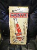 $OLD Whislte Soda Pop Thermometer w/ Elves