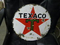 $OLD Texaco 15 Inch SSP Sign