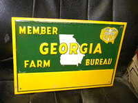 $OLD Georgia Farm Bureau NOS SST Sign