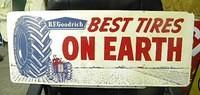 "$OLD BF Goodrich Farm Tires ""Best On Earth"" DST Tin Sign w/ Graphics"