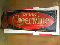 $OLD Early Cheerwine Sign w/ Bottle Graphics
