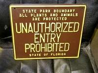 $OLD NOS Florida State Park Sign