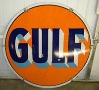 $OLD Gulf 42 Inch DSP Porcelain Sign