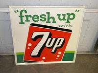 $OLD Seven Up Tin Sign