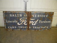 $OLD Ford Fordson Lincoln Tractors SSP Porcelain Sign