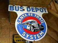 $OLD Santa Fe Trail Bus Depot DSP Sign