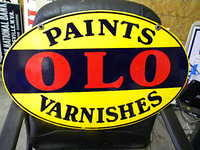$OLD OLO Paints Varnishes OHIO DSP Porcelain Sign