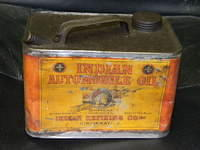 $OLD Indian Automobile Oil 1 Gallon Early Motor Oil Can