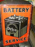 $OLD Early AC Delco United Motors Service Tin Flange Sign