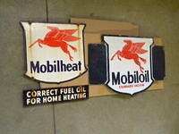 $OLD Mobilheat DSP and $OLD  Mobiloil DSP Flange Sign
