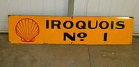 $OLD Iroquois Shell no ! Field Lease Porcelain Sign