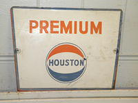 $OLD Houston Premium Pump Plate Sign (GULF)